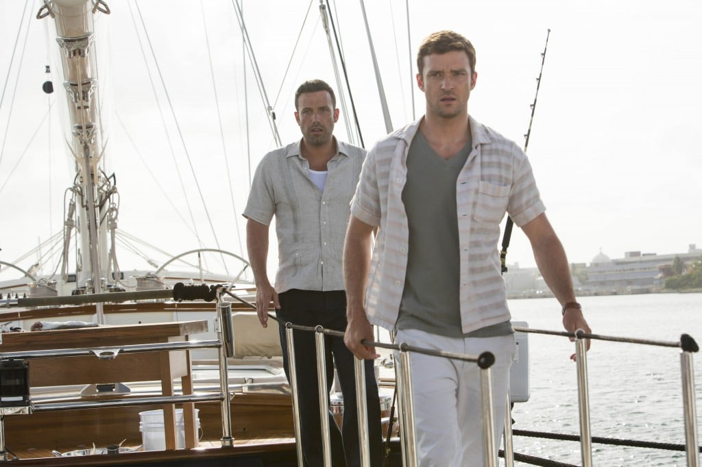Runner, Runner  What it's about: A cash-poor college student (Justin Timberlake) starts to work for a charismatic yet shady owner (Ben Affleck) of an online poker company. Once he realizes he's in over his head, it might be too late to get out. Why we're interested: Justin Timberlake and Ben Affleck are going to be on the same screen. At the same time. When it opens: Oct. 4 Watch the trailer for Runner Runner.