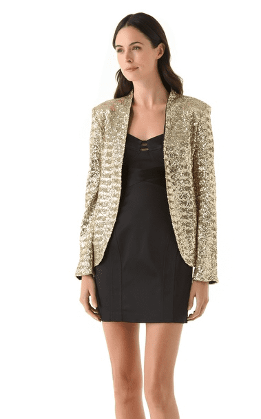 This La Fee Verte Disco Blazer ($250) is a bonafide little statement maker — perfect for adding interest to skinny jeans or upping the ante on your LBD.