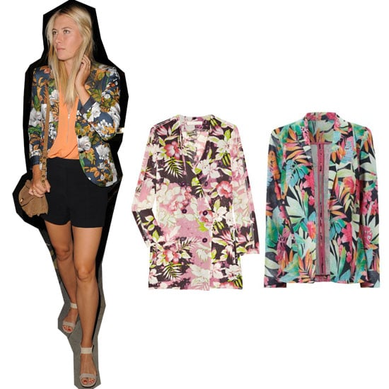 How To Wear a Tropical Print Blazer Like Maria Sharapova: Our Top 5 Buys and Styling Tips