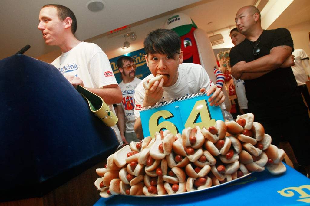 Joey Chestnut Wins Hot Dog Eating Competition