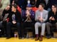 Joseph Gordon-Levitt clapped on as the LA Lakers competed against the Oklahoma City Thunder.