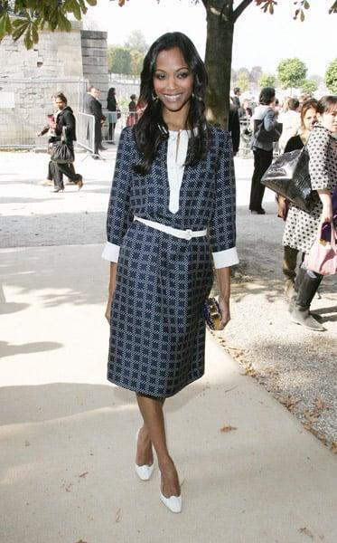 Zoe in Christian Dior during Paris Fashion Week in '08.