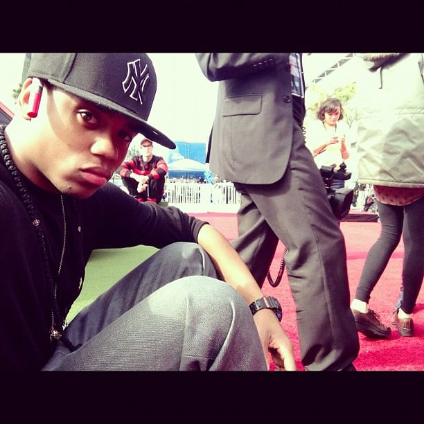 Tristan Wilds got a close-up view of the AMA red carpet. Source: Instagram user tristanwilds