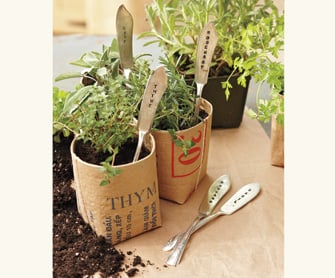 Vintage Silver Herb Markers ($49)