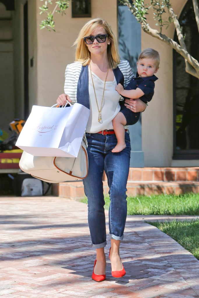 Reese Witherspoon gave us a good look at her adorable son Tennessee, during a rare outing in Los Angeles on June 21.