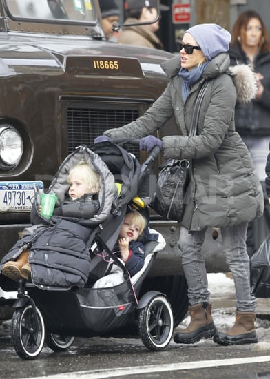 Pictures of Naomi Watts With Sasha and Samuel in Snowy New York