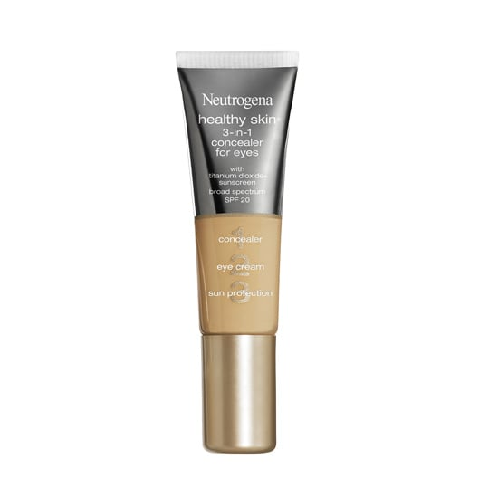 To hide dark circles, reduce puffiness, and protect sensitive eyes, pick up Neutrogena 3-in-1 Concealer For Eyes ($10).