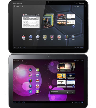 Quiz on Features of the Motorola Xoom and 10-inch Samsung Galaxy Tab