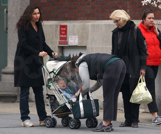 Photo of Minnie Driver with Her Son Henry Story Driver Out in NYC