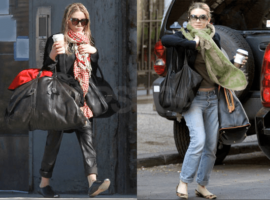 Mary-Kate and Ashley Olsen Wearing Spring Scarves in NYC