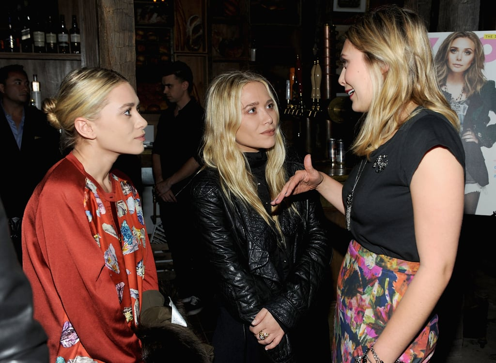 Sisters Ashley, Mary-Kate, and Elizabeth Olsen talked at a dinner in NYC.