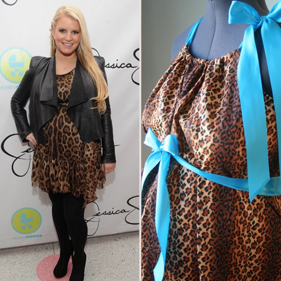Jessica Simpson Sees Herself in a Leopard Print Hospital Gown