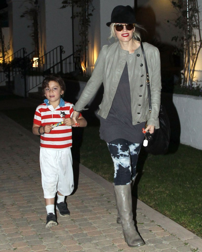Gwen Stefani and Kingston Rossdale left a Malibu, CA, playground.