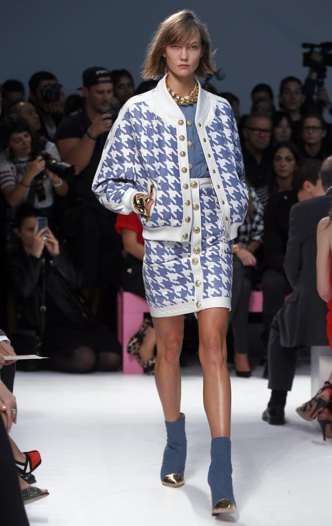Karlie Kloss walked on Thursday at the Balmain show.
