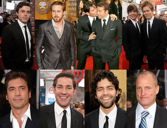 Handsome SAG Men Played It Safe and Full of Smiles