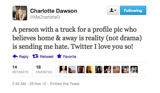 Ignore them, Charlotte — we love you!
