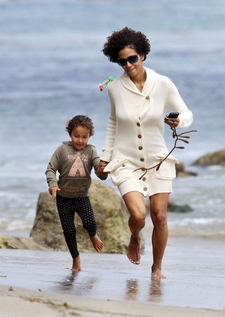 Halle Berry and her daughter, Nahla Aubry, made a trip to the beach in Malibu in June.