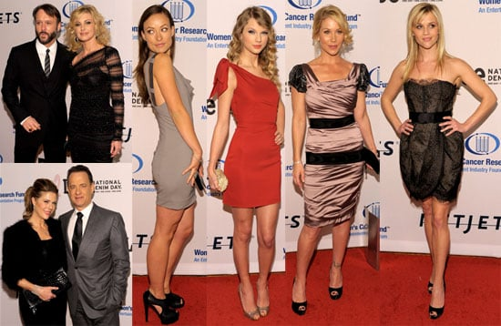 Photos of Reese Witherspoon, Olivia Wilde, Taylor Swift, Tom Hanks, Rita Wilson, Tim McGraw, Faith Hill Partying in LA 2010-01-28 08:45:00