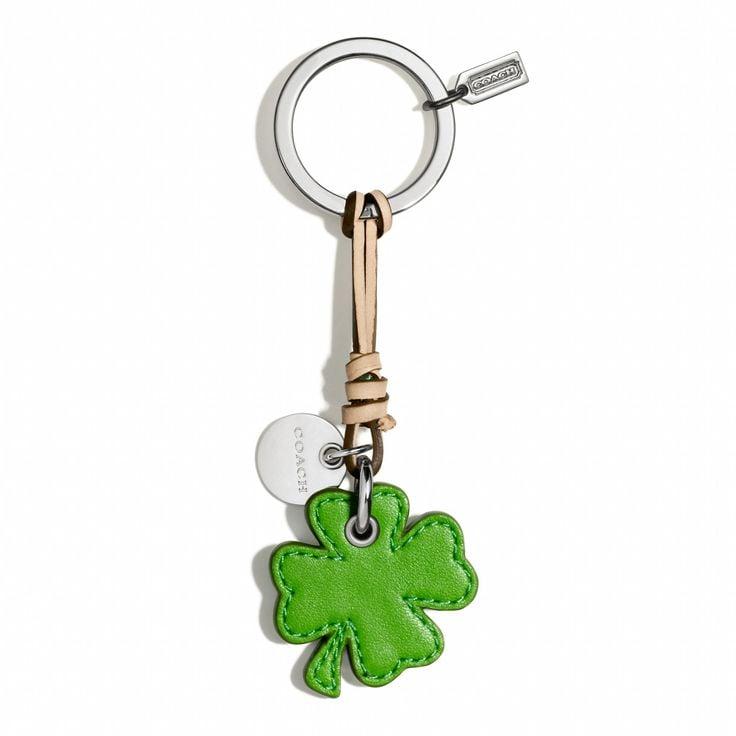 Coach leather shamrock key chain ($32)