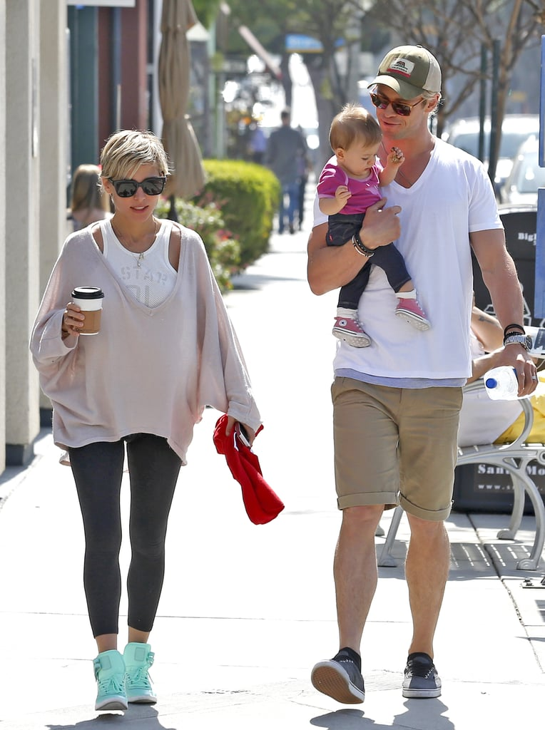 Chris Hemsworth Shows Love For His Girls in LA