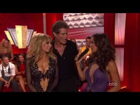 The Hoff and Kym Johnson Cha-Cha-Cha on Dancing With the Stars and are Eliminated First