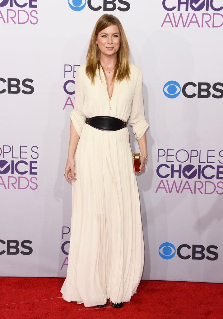 Ellen Pompeo hit the red carpet at the People's Choice Awards.