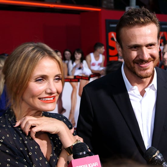 Jason Segel and Cameron Diaz at Sex Tape Red Carpet