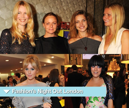 Photos of Celebrities at London's Fashion's Night Out 2010