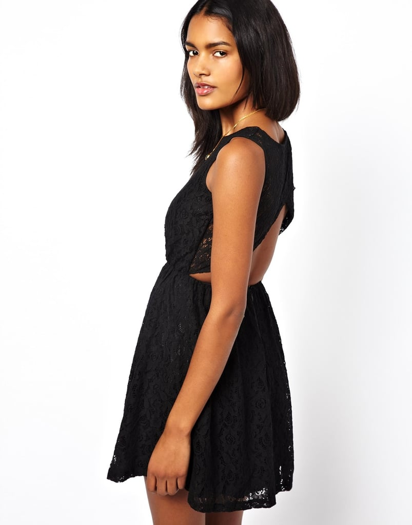 Coco's Fortune Backless Black Lace Dress ($46, originally $91)