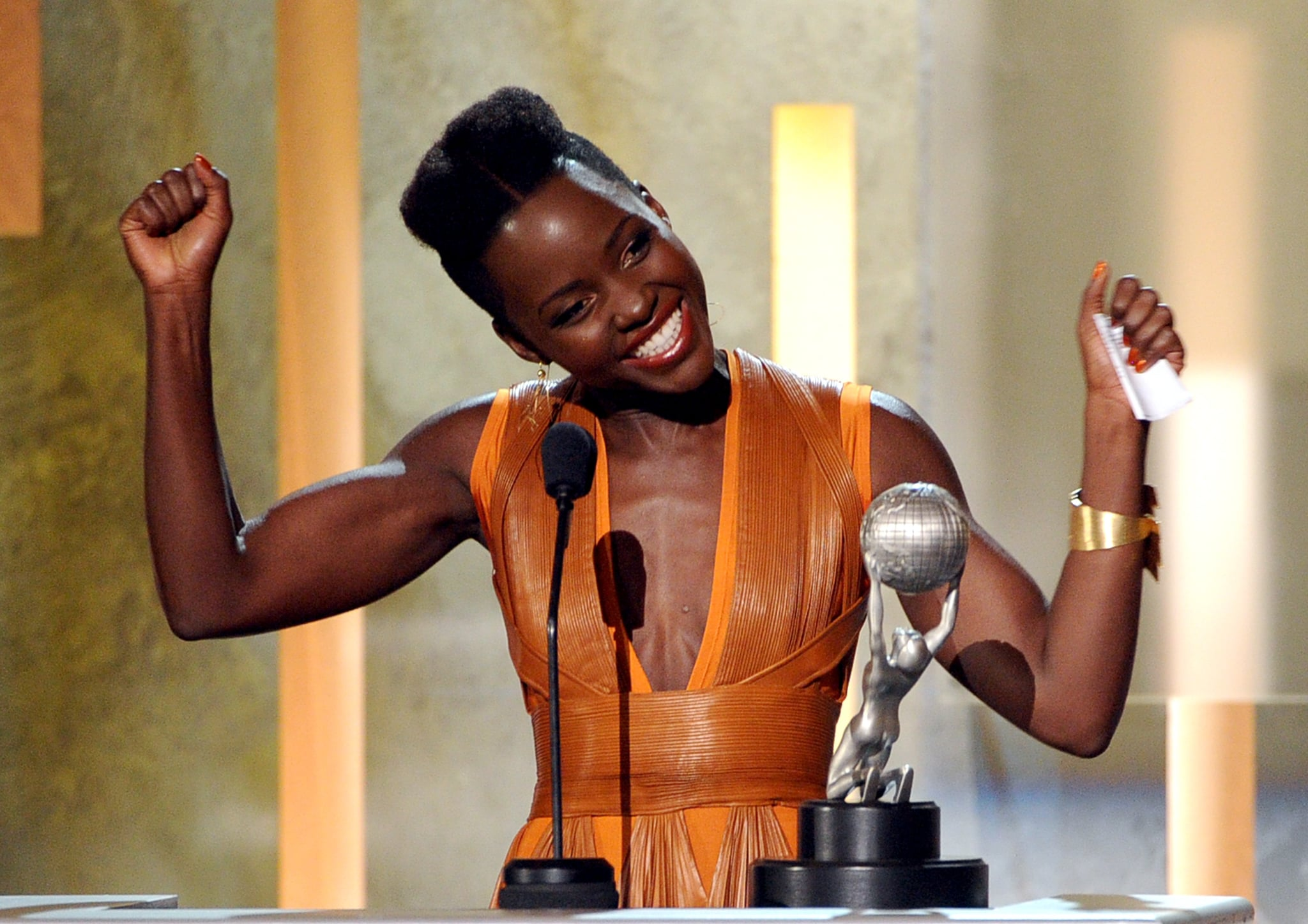 Lupita Nyong'o was over the moon after winning best supporting actress at the NAACP Image Awards.