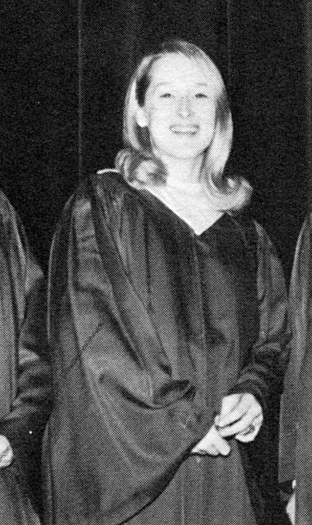 Meryl smiled in her graduation gown. Source: Seth Poppel/Yearbook Library