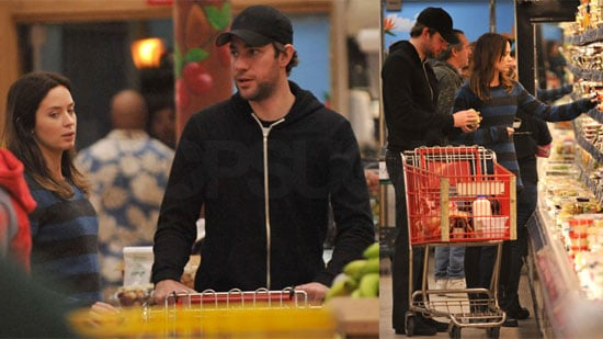 Photos of John Krasinski and Emily Blunt at the Grocery Store