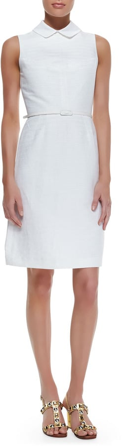Tory Burch White Collared Dress