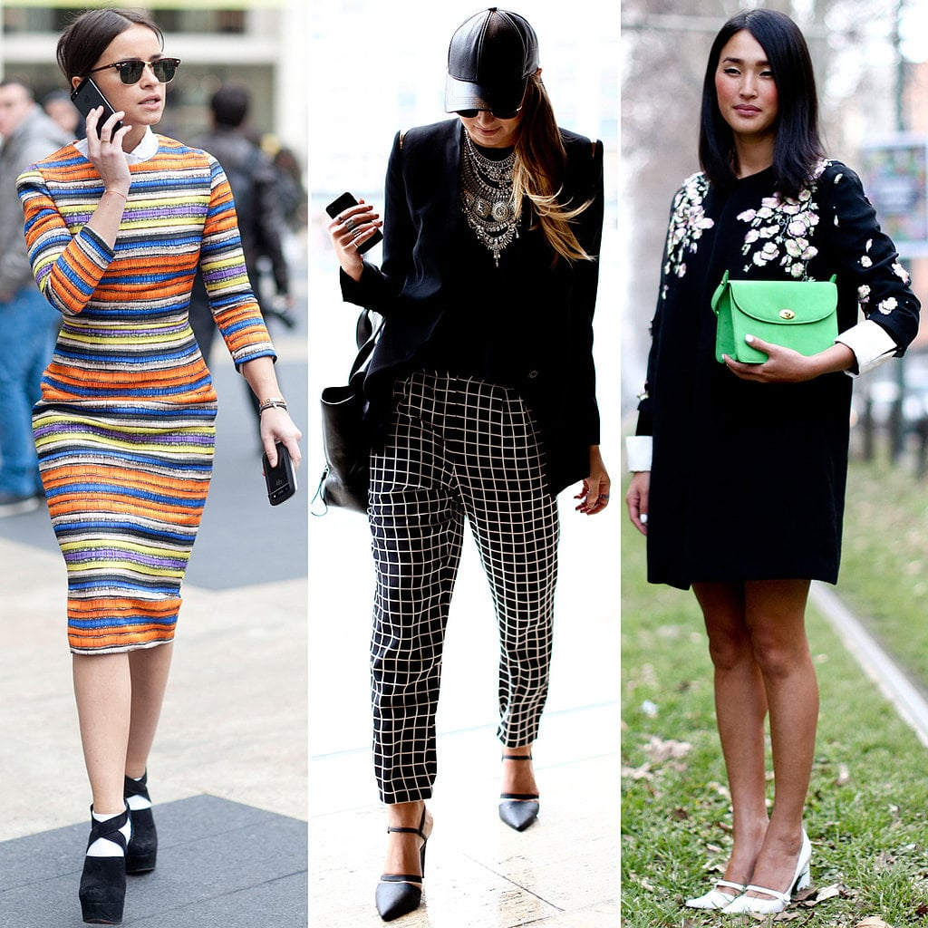 We rounded up the best street-style trends, from bold and bright looks to superbly striped ensembles.