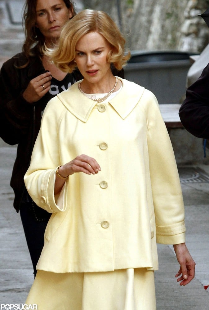 Nicole Kidman was in France to film as Grace Kelly for Grace of Monaco.
