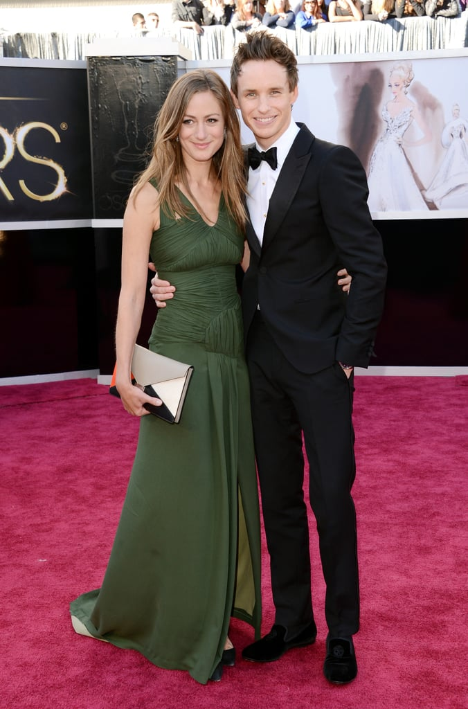 Eddie Redmayne and Hannah Bagshawe on the red carpet at the Oscars 2013.