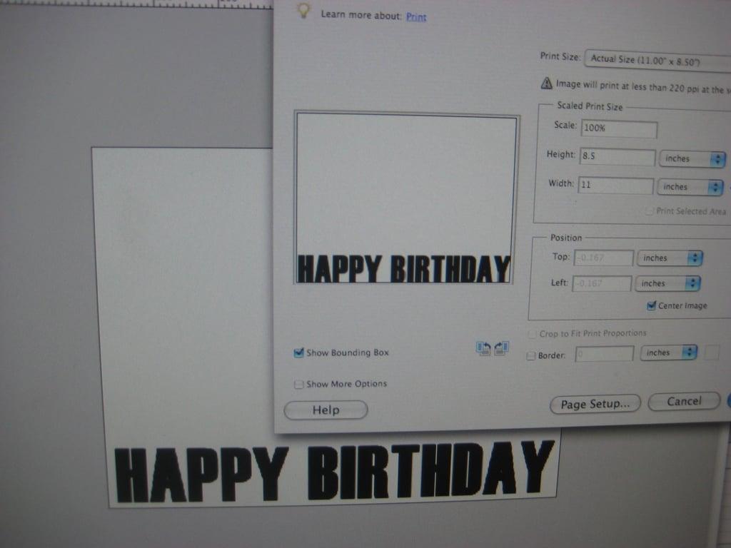 My Half Birthday Invite: Step by Step