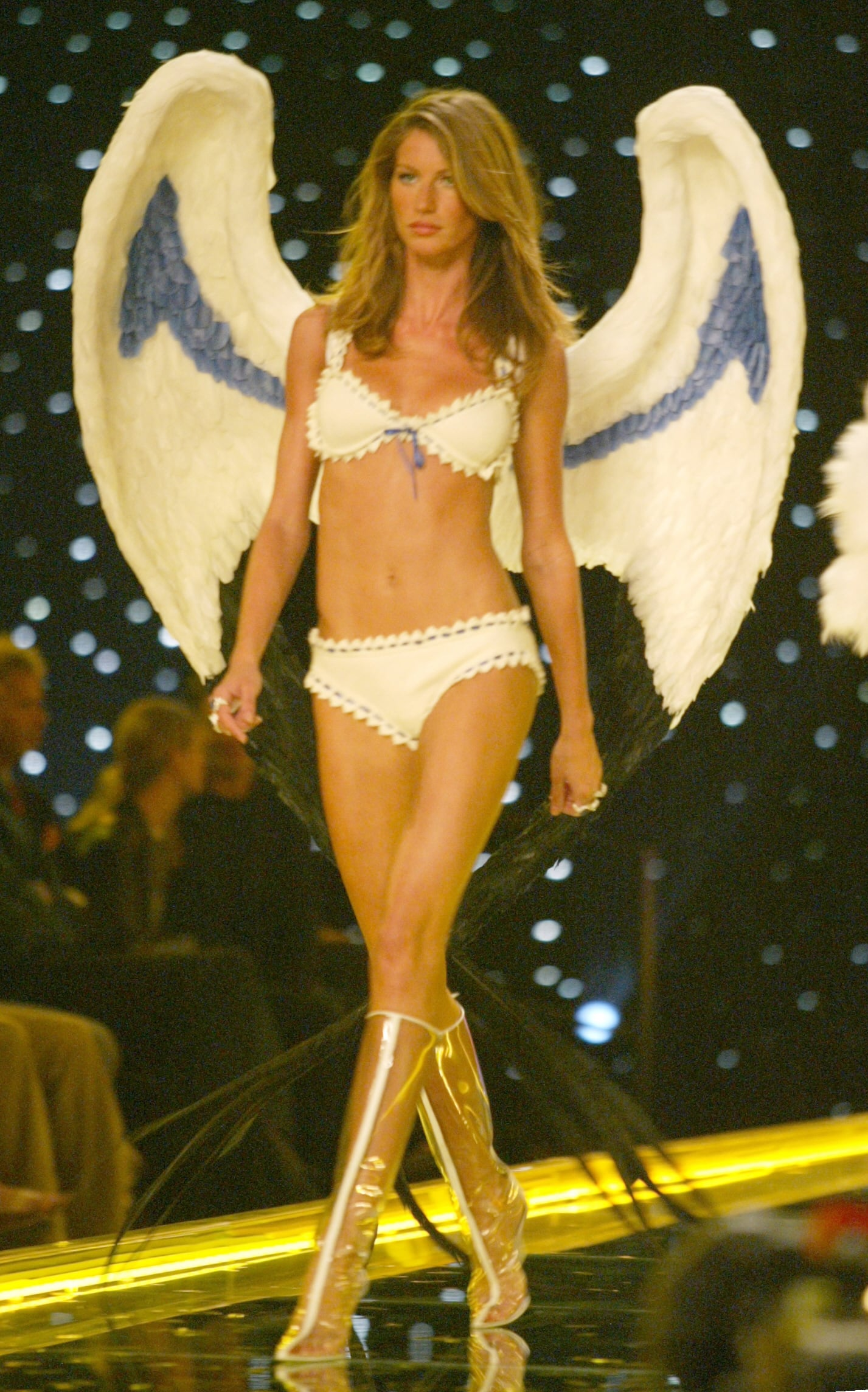 Gisele Bundchen strutted her stuff as one of the original Angels in 2002.