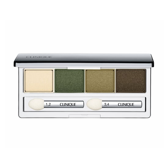 Pantone selected emerald green as the color of the year, and Fall is the ideal time to try the color out. The Clinique All About Eye Shadow Quad Palette in On Safari ($28) includes three different verdant shades and a pale cream to highlight.
