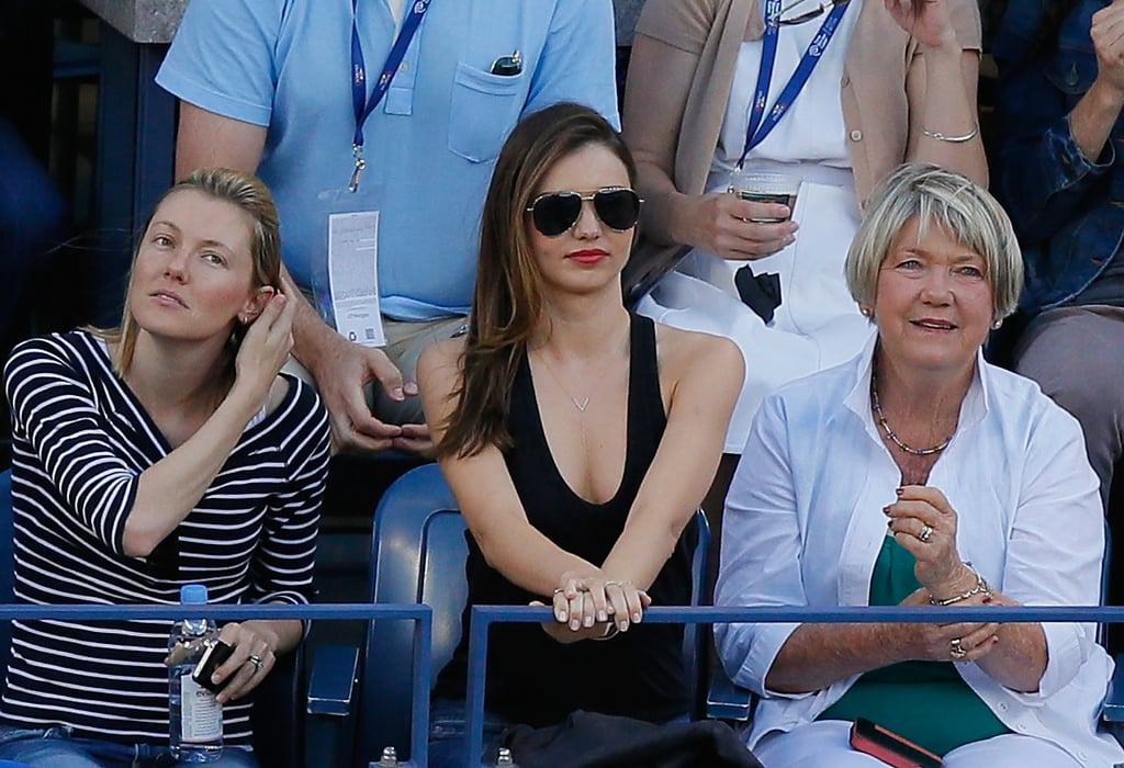 Miranda Kerr watched the women's singles finals.