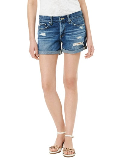 If you're anything like me and have thought your days of wearing cutoffs are behind you, try on these Rebecca Taylor shorts ($188). From the denim pros at AG Jeans, this broken-in pair is free of those thigh-skimming exposed pockets and slouchy enough for me to actually lounge comfortably at that lazy Saturday afternoon BBQ. — Kate Schweitzer