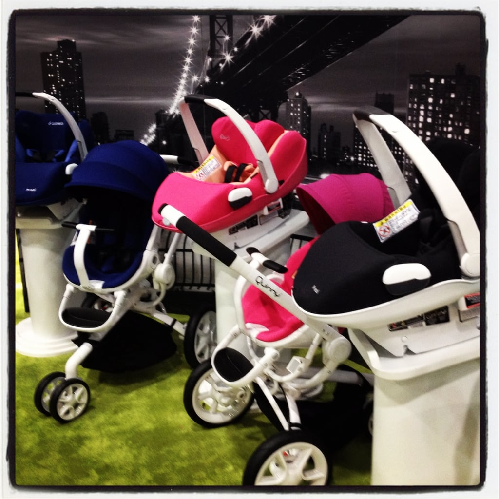 Quinny will expand the use of its totally mod white frames on its new Prezi car seat.
