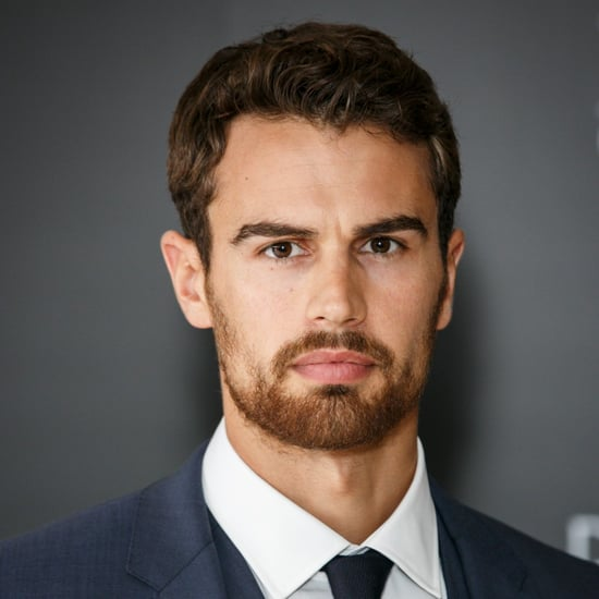 Theo James London Appearance With Boss The Scent
