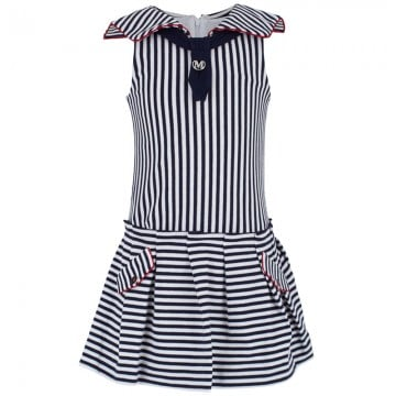 Mayoral's nautical sleeveless sailor dress ($34, originally $48) is easy enough to wear every day and dressy enough to wear for special occasions.