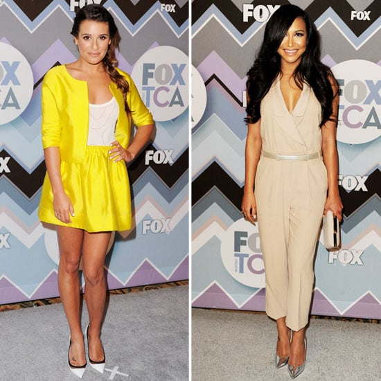 Lea Michele and Naya Rivera at Fox All-Star Party 2013