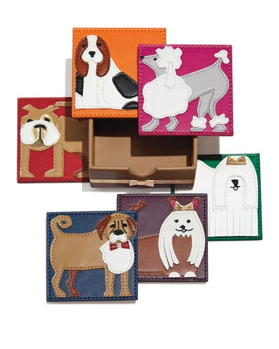 For the Pet Lover: Kim Seybert Pleather Pups Coasters