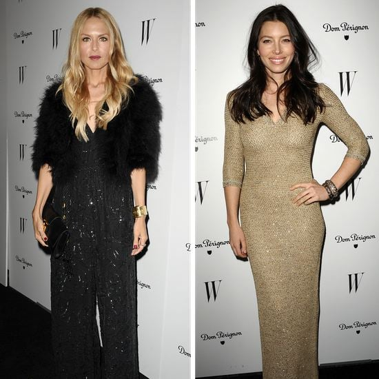Rachel Zoe and Jessica Biel at W Magazine Party