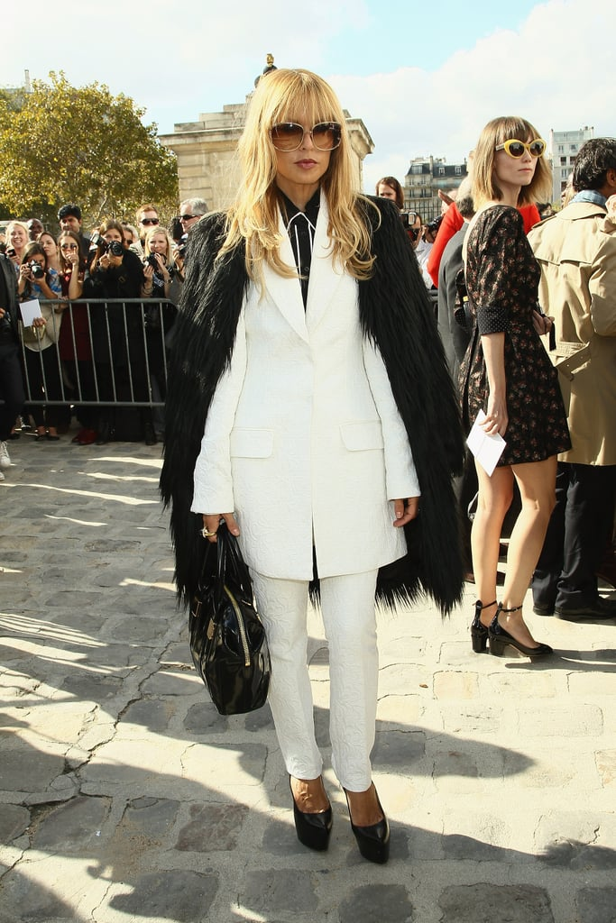 Rachel Zoe wore an all white suit.
