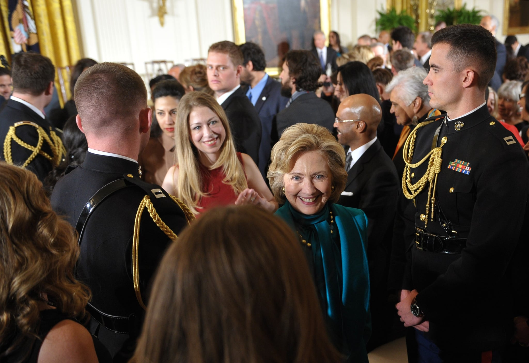 Chelsea and Hillary Clinton were on hand to celebrate Bill Clinton's big honor.