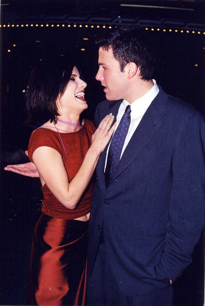 Sandra Bullock shared a laugh with Ben Affleck at the September 1999 LA premiere of Forces of Nature.